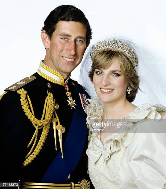 The Prince and Princess of Wales after their wedding at Buckingham Palace on 29th July 1981. .