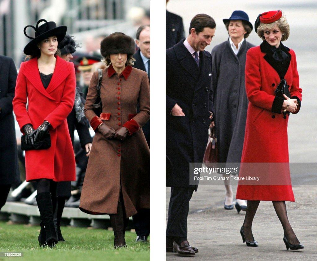 (FILE PHOTO) Kate Middleton And Diana Princess Of Wales : News Photo
