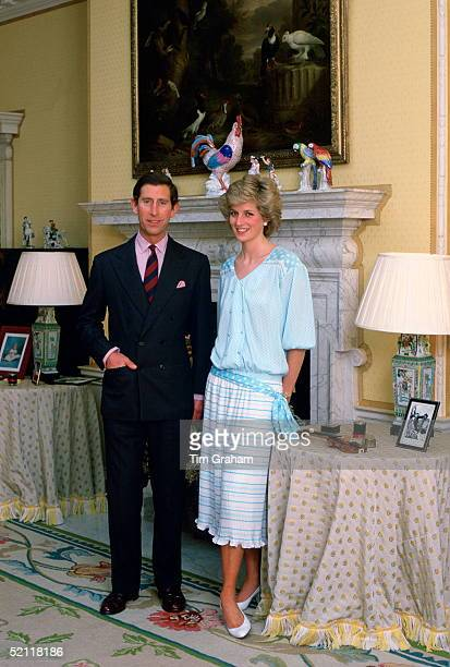 The Prince And Princess Of Wales At Home In Kensington Palace