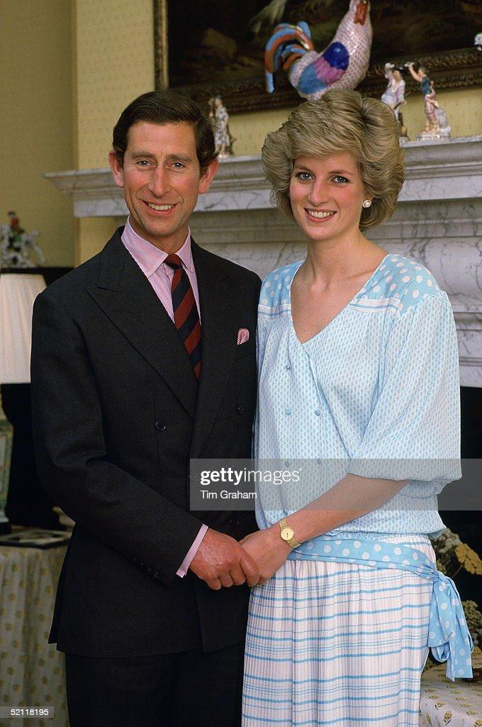 Diana And Charles At Home Kensington Palace : News Photo