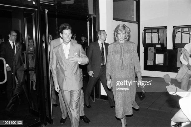 The Prince and Princess of Wales at Neil Diamond's concert at the National Exhibition Centre, Birmingham, 5th July 1984.