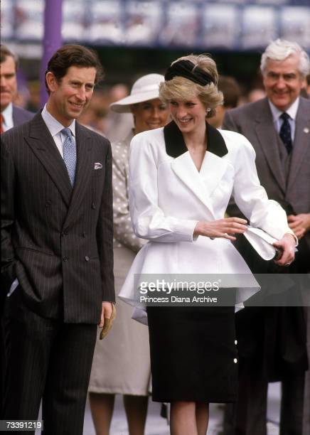 The Prince and Princess of Wales at the 1986 Expo Exhibition in Vancouver Canada May 1986