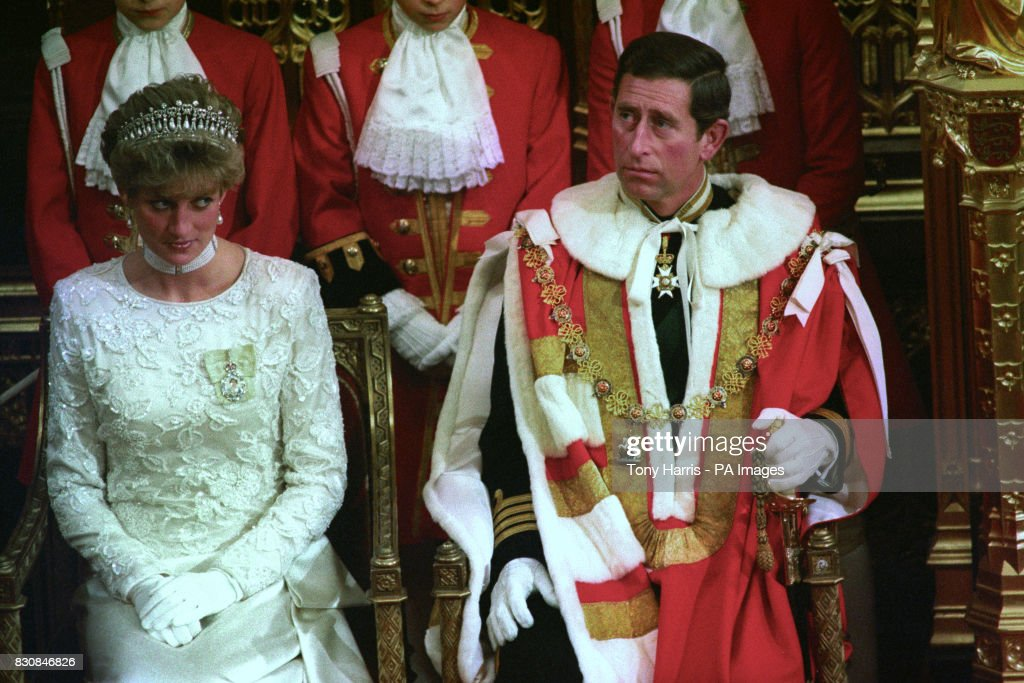Royalty - The State Opening of Parliament - Prince and Princess of Wales - London : News Photo