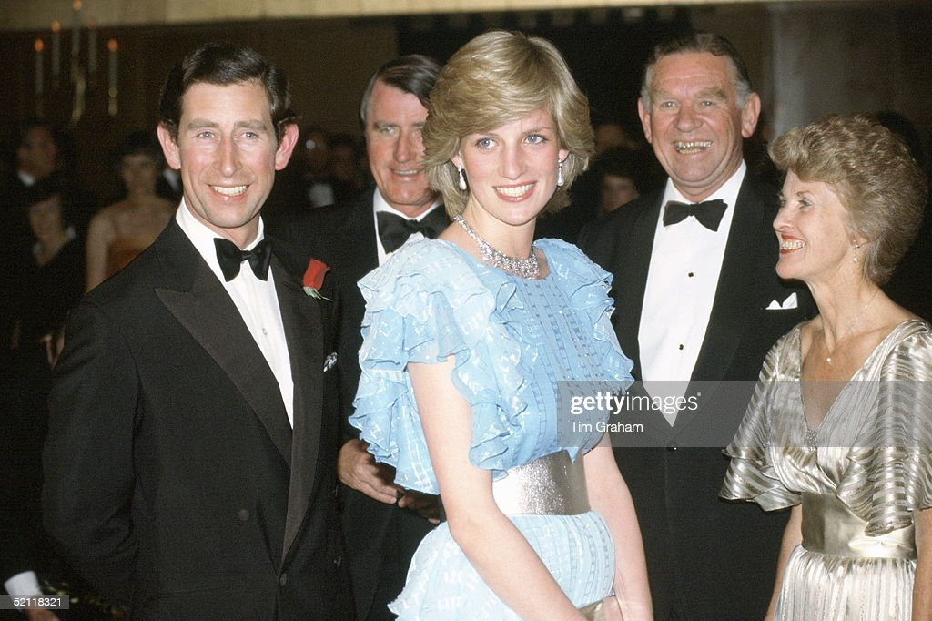 Charles And Diana Gala Evening Australia : News Photo
