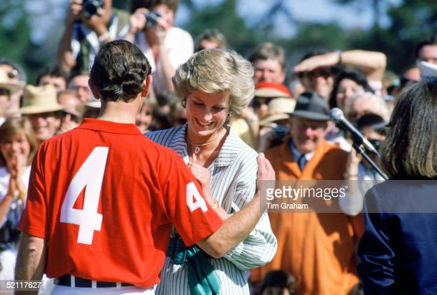 The Prince And Princess Of Wales Attending And Playing In A Polo Match At Merribee Park In Melbourne During A Tour Of Australia