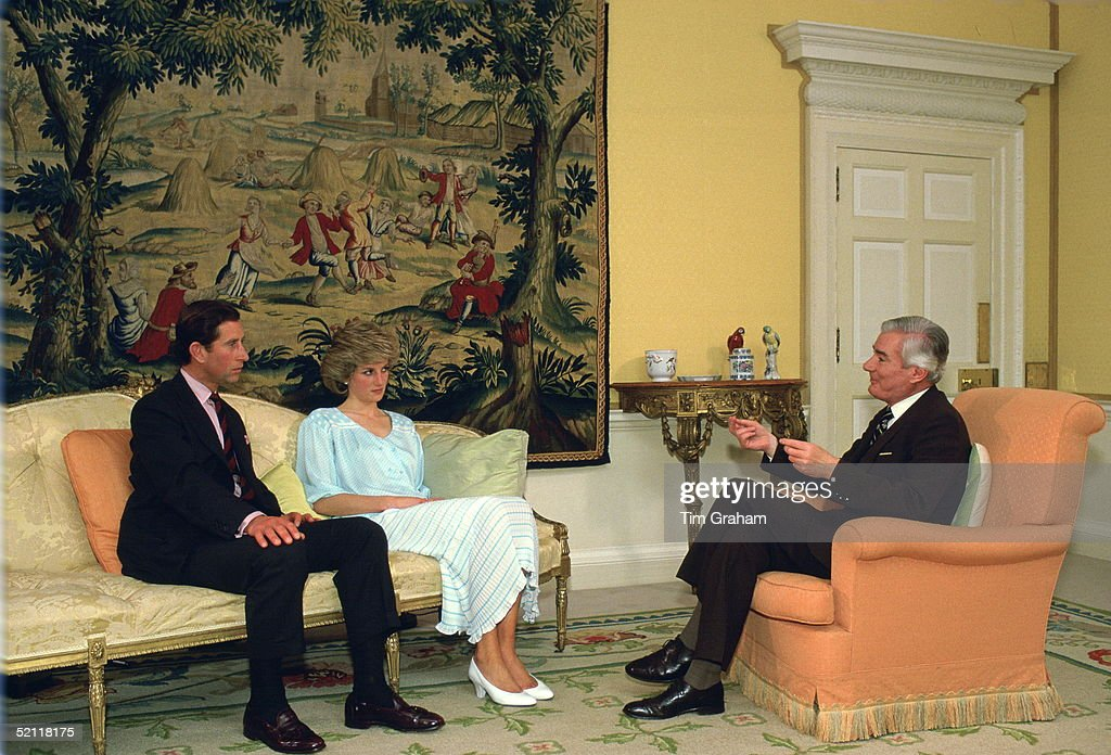 The Prince And Princess Of Wales Being Interviewed By Alastair Burnet In Their Home At Kensington Palace