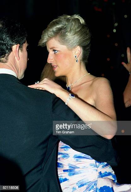 The Prince And Princess Of Wales Dancing At The Hotel Hyatt In Melbourne, Australia
