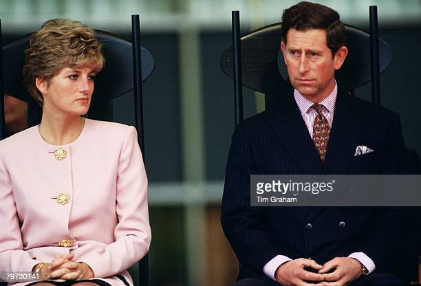 The Prince and Princess of Wales during a trip to Toronto in Canada