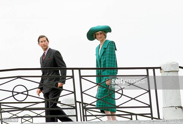 The Prince And Princess Of Wales During A Trip To Venice Italyshe Is Wearing An Outfit Designed By Fashion Designers The Emanuels