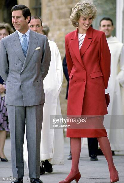 The Prince And Princess Of Wales During A Visit To Florence In Italy