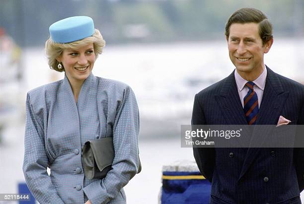 The Prince And Princess Of Wales During A Visit To Vancouver In Canada