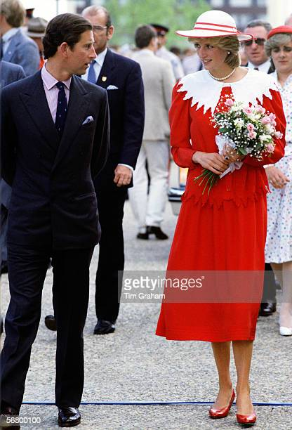 The Prince and Princess of Wales during an official visit to Edmonton Canada
