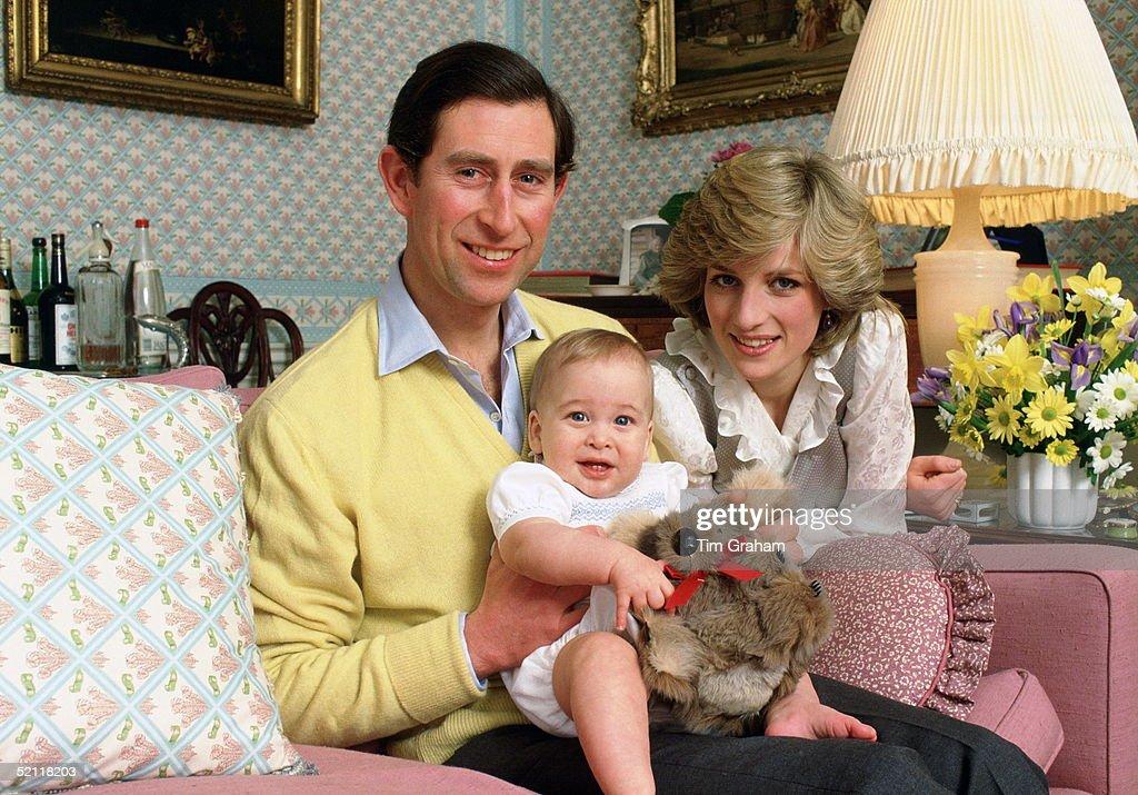 Diana Charles William At Home Kensington Palace : News Photo