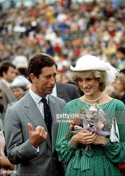 The Prince And Princess Of Wales In Auckland New Zealand
