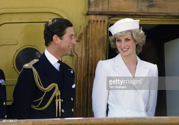 The Prince And Princess Of Wales In La Spezia During A Tour Of Italy