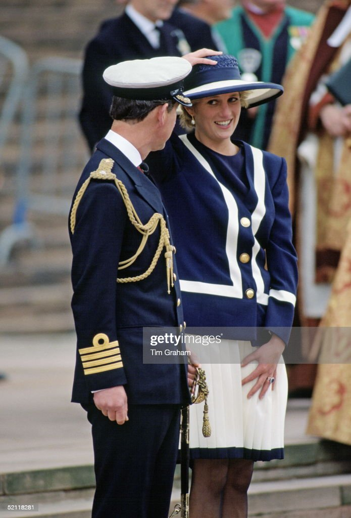 The Prince And Princess Of Wales In Liverpool For The Battle Of The Atlantic Service