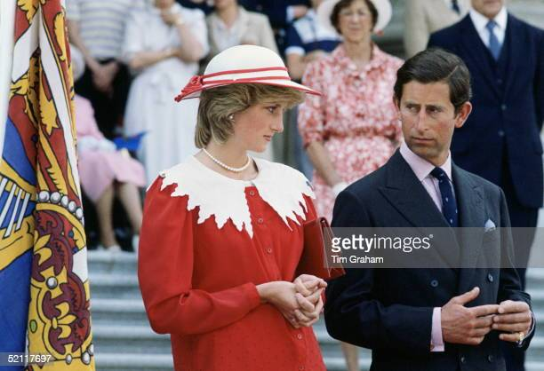 The Prince And Princess Of Wales Looking Irritated And Awkward With One Another During A Visit To Canada
