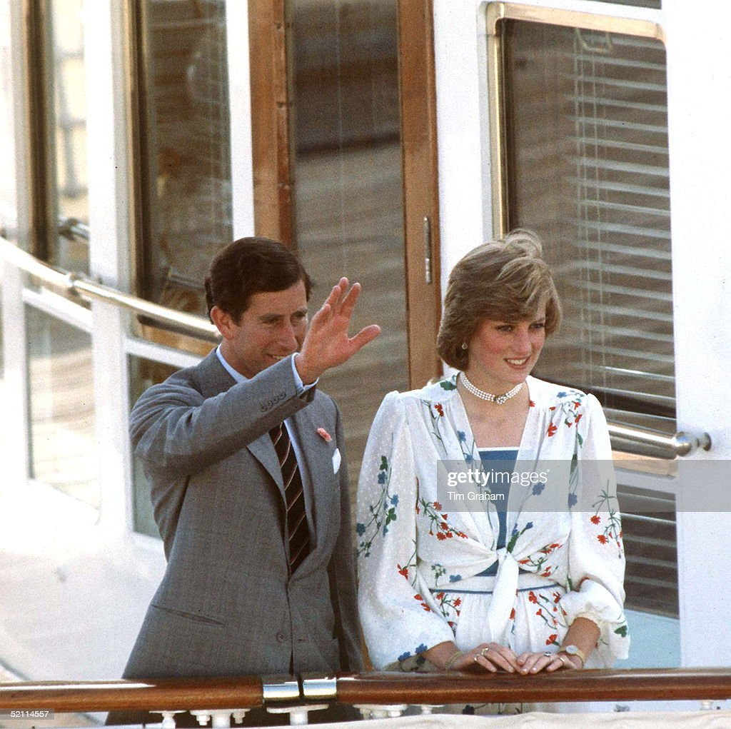 The Prince And Princess Of Wales On Their Honeymoon On August 1, 1981