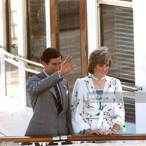 The Prince And Princess Of Wales On Their Honeymoon On August 1 1981