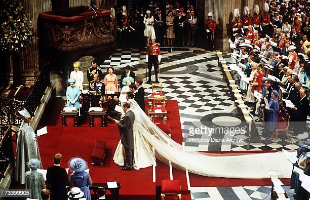 The Prince and Princess of Wales on their wedding day in St Paul's Cathedral 29th July 1981