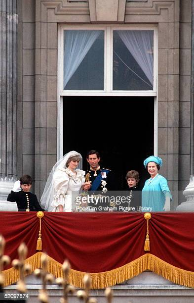 The Prince And Princess Of Wales [ Prince Charles And Princess Diana ] On Their Wedding Day With The Queen The Pageboys Edward Van Cutsum Lord...