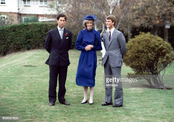 The Prince and Princess of Wales tour of Australia and New Zealand in the Spring of 1983 Prince Charles and Princess Diana pose with Prince Edward at...