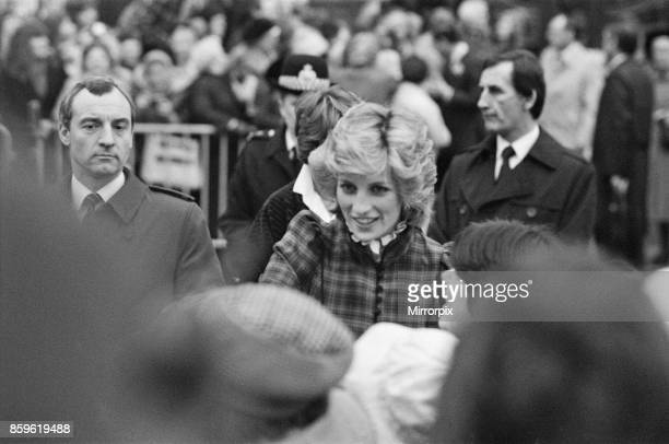 The Prince and Princess of Wales visit Mid Glamorgan in Wales On this visit they meet the local wellwishers outside a newly electronics plant Picture...