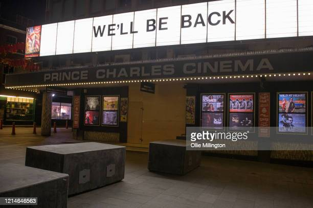 The Prince Charles Cinema in Leicester Square in central London closed till further notice on March 24 2020 in London British Prime Minister Boris...