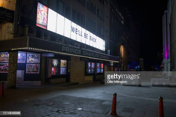 The Prince Charles Cinema in Leicester Square in central London closed till further notice on March 24, 2020 in London. British Prime Minister, Boris...