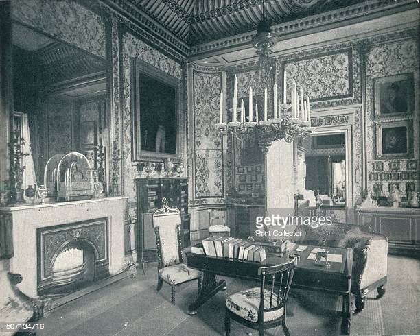 The Prince Consort's Writing Room at Buckingham Palace' c1899 The Prince Consort's Writing Room at Buckingham Palace which remained exactly as it was...