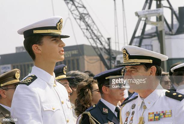 The Prince Felipe during his stay in the ship school Juan Sebastian Elcano
