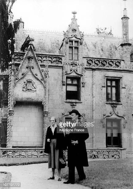 The Prince Felix Yusupov Russian Guru Murderer Of Rasputin And His Wife Princess Irina Alexandrovna Niece Of Czar Nicholas Ii Of Russia In Front Of...