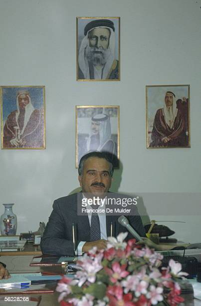 The prince Hassan the king Husayn of Jordan's brother in September 1990
