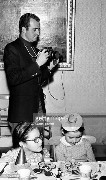 The prince Juan Carlos of Borbon in the birthday of his daughter Cristina in the Zarzuela Palace 21th December 1971 Madrid Spain
