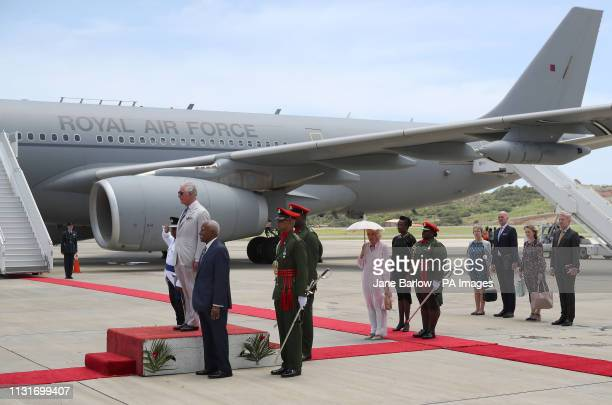 The Prince of Wales and Duchess of Cornwall arrive at Argyle International Airport, in St Vincent and Grenadines at the start of their one day visit...