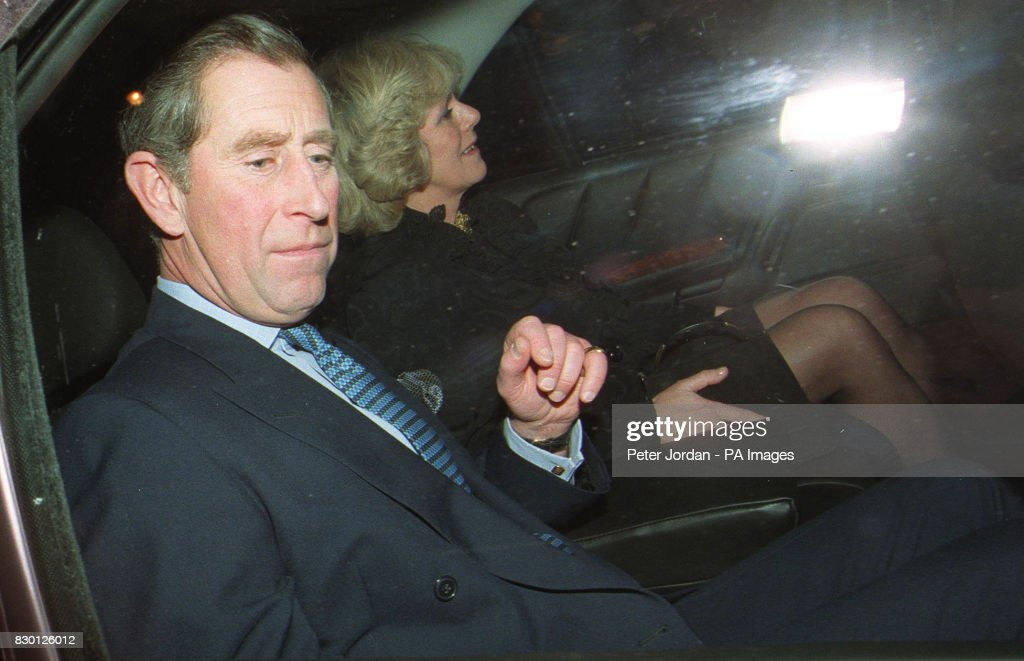 Prince of Wales & Camilla in car : News Photo