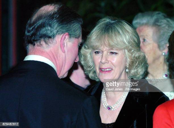 The Prince of Wales and his partner Camilla Parker Bowles during the interval at the Royal Gala