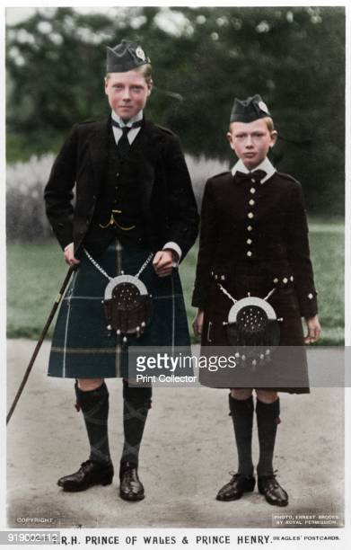 The Prince of Wales and Prince Henry c1910 The future King Edward VIII and Prince Henry of Wales the eldest and third sons of King George V of the...