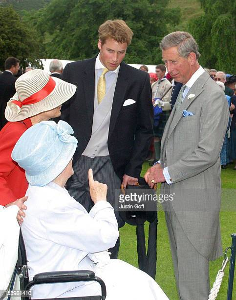 The Prince Of Wales And Prince William Attend A Garden Party At Holyrood House In Edinburgh