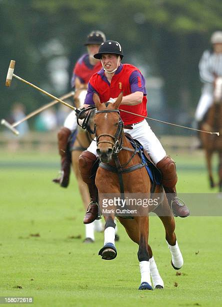 The Prince Of Wales And Princes William And Harry Play In The King Constantine Cup Polo Match At Cirencester Park Polo Club