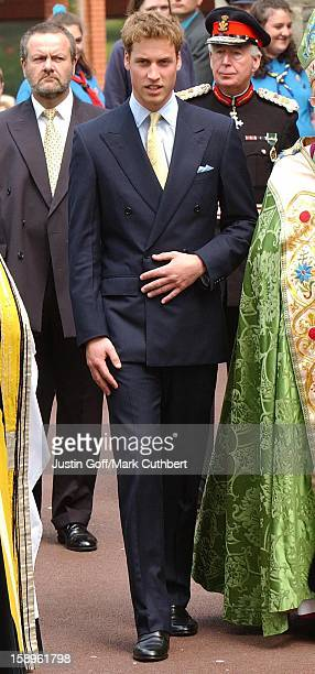 The Prince Of Wales And Princes William Harry Attend A Service Of Thanksgiving At St Mary'S Church Swansea During The Queen'S Golden Jubilee...