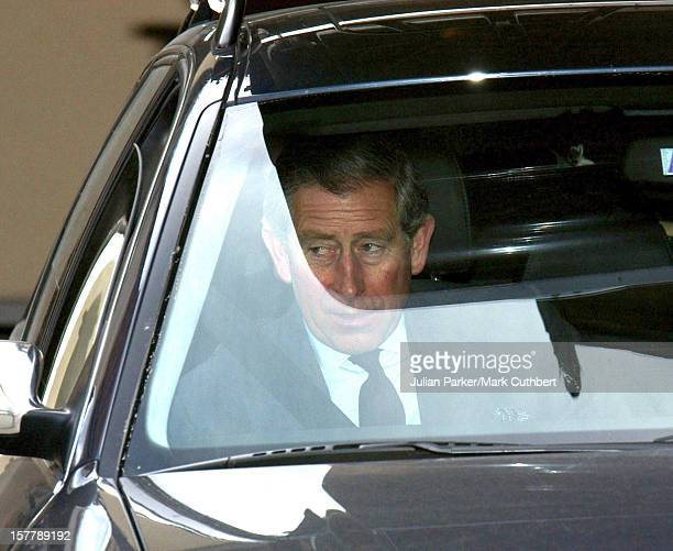 The Prince Of Wales And Princes William Harry Leave Klosters And Head For Windsor Following The Death Of The Queen Mother