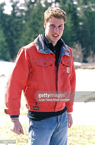 The Prince Of Wales And Princes William Harry Skiing In Klosters Switzerland