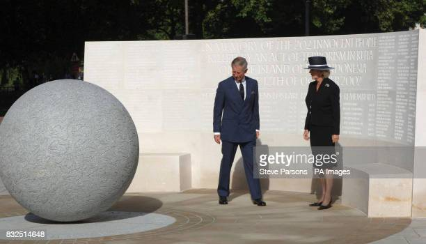 The Prince of Wales and the Duchess of Cornwall after unveiling a memorial to those who died in the Bali bombings four years ago on Clive Steps at...