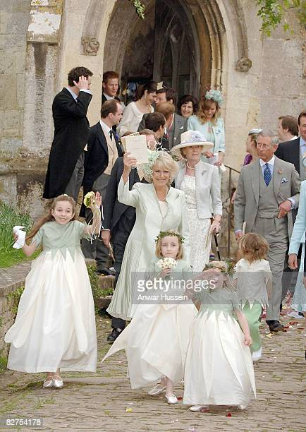 TRH The Prince of Wales and the Duchess of Cornwall Andrew Parker Bowles Prince William Prince Harry and Kate Middleton