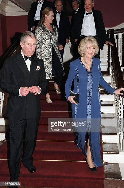 TRH The Prince of Wales and the Duchess of Cornwall arrive at the Harvard Club where the Prince will receive the Global Environmental Citizen Award...
