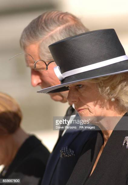 The Prince of Wales and the Duchess of Cornwall at the unveiling of a memorial to those who died in the Bali bombings four years ago on Clive Steps...