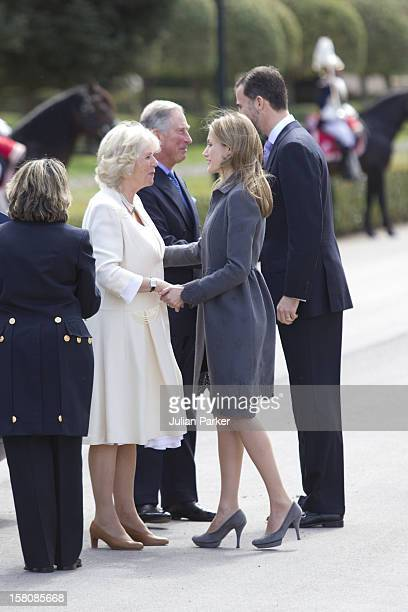 The Prince Of Wales And The Duchess Of Cornwall Begin A Three Day Official Visit To SpainOfficial Welcome At The Palacio De El Pardo MadridMet By...