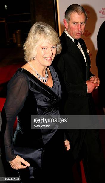 The Prince of Wales and The Duchess of Cornwall during The Prince's Trust Gala Dinner at The Roundhouse in London Great Britain
