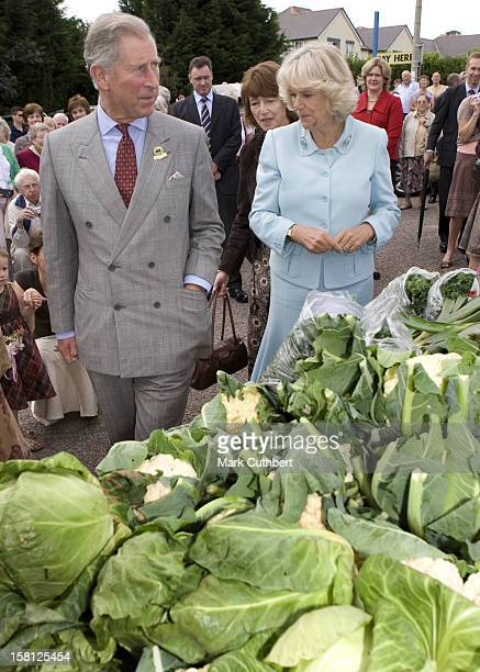 The Prince Of Wales And The Duchess Of Cornwall Visit Cullompton Farmers Market, Cullompton, Devon.